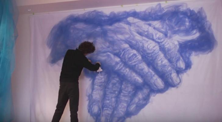 Folosind doar un fier de călcat, acest artist reuşeşte să realizeze adevărate opere de artă. Povestea lui este impresionantă.