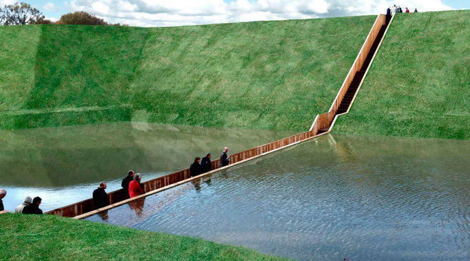 """Olandezii au construit un pod """"invizibil"""", cunoscut ca """"Podul lui Moise"""". Ceea ce pare o iluzie optică este o construcţie remarcabilă!"""